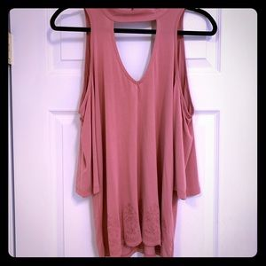 Flirty, open shoulder, new with tags top
